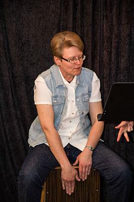 Ingela Larsson på Cajón