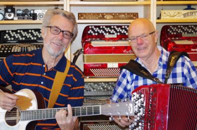 Musikanterna Alf Ivarsson och Jan Albertsson