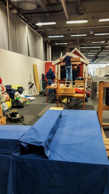 Bygge till Båtmässan 2019